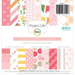 "Baby Girl Project Life 6""x6"" Paper Pad 36 pkg"