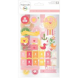 Baby Girl Project Life Chipboard Stickers - 1