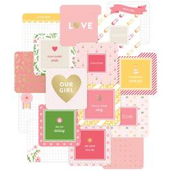 Baby Girl Project Life Die-Cut Card Pack 4x4 12 pkg