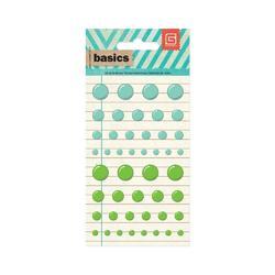 Basics Candy Buttons Epoxy Stickers Aqua/Green