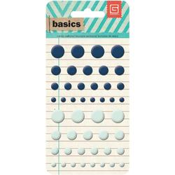 Basics Candy Buttons Epoxy Stickers Blue/Seafoam