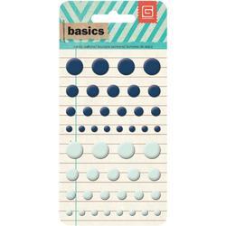 Basics Candy Buttons Epoxy Stickers Blue/Seafoam