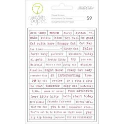 Baxter Cat Tiny Phrase Stickers