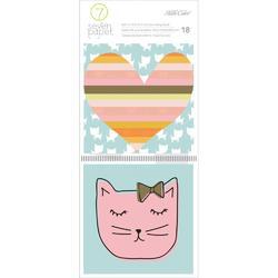 """Baxter Cats Journaling Cards 4""""x4"""" 18pkg"""