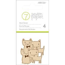 Baxter Cats Wood Veneer Shapes 4pkg