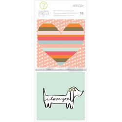 "Baxter Dogs Journaling Cards 4""x4"" 18pkg"