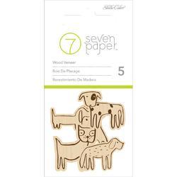 Baxter Dogs Wood Veneer Shapes 5pkg
