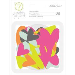 Baxter Hearts Vellum Die-Cuts 25pkg - 1