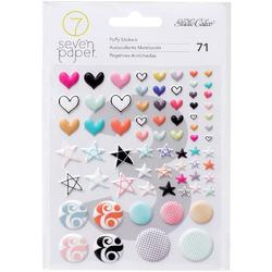 Baxter Tiny Shapes Puffy Stickers