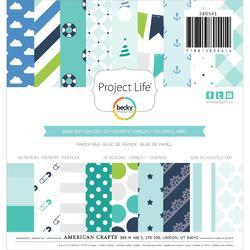 "Baby Boy Project Life 6""x6"" Paper Pad 36 pkg"
