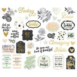 Beautiful Bits & Pieces Gold Foil Die-Cuts 40/Pkg