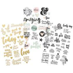 "Beautiful Clear Stickers 4""X6"" 3/Pkg"
