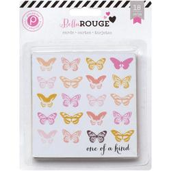 "Bella Rouge Journaling Cards 4""x4"" 18 pkg - 1"