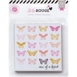 "Bella Rouge Journaling Cards 4""x4"" 18 pkg - 1"