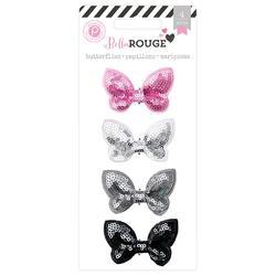 Bella Rouge Sequin Butterflies 4 pkg - 1