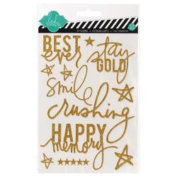 Best Ever Gold Mixed Media Glitter Stickers - 1