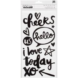 Better Together You + Me Words/Black FoamThickers Stickers