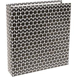 "Black Pattern Project Life Printed D-Ring Album 6""x8"" - 1"