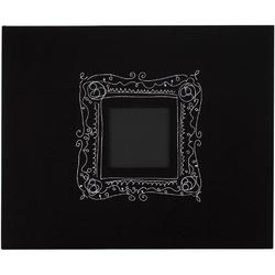 "Black w/Embroidered Frame Patterned D-Ring Album 12""x12"""