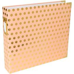 "Blush W/Gold Dots Project Life D-Ring Album 12""X12"""