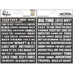 "Boys Fort Cardstock Word Phrase Stickers 4""X5"" 2/Pkg"