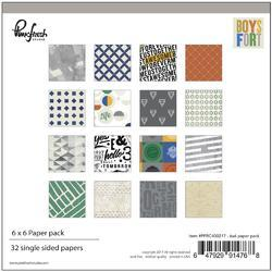 """Boys Fort Double-Sided Paper Pack 6""""x6"""""""