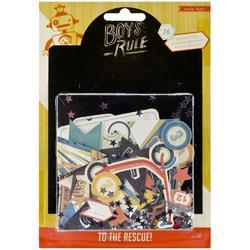 Boys Rule Cardstock Die Cuts 76 pkg - 1