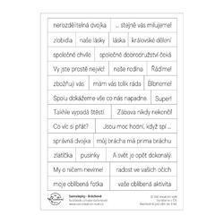 Bráchové Papírové samolepky - Texty