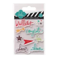 Brilliant Mixed Media Clear Mini Stamps