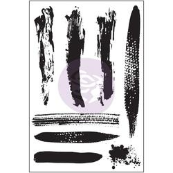 Brush Strokes Cling Stamps