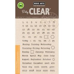 Calendar Pieces Clear Stamps