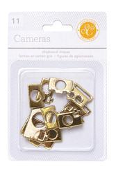 Cameras Gold  Chipboard Shapes 11 pkg - 1