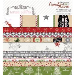 "Candy Cane Lane Paper Pad 6""x6"" 24 pkg - 1"