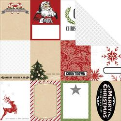 "Candy Cane Lane Tags Double-Sided Cardstock 12""x12"""