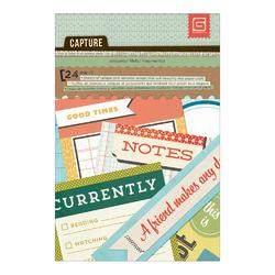 """Capture Journal Snippets Paper Pad 4""""x6"""" 24/Sheets"""