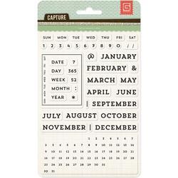 Capture Universal Calendar Acrylic Stamps