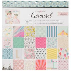 "Carousel Single-Sided Paper Pad 12""X12"""