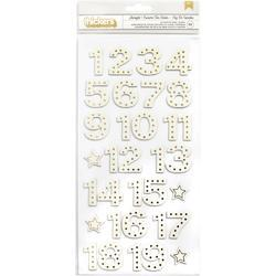 Christmas Magic Starlight/Gold Foil Thickers Number Stickers