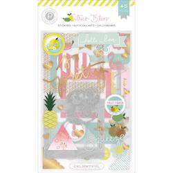 Citrus Bliss Chipboard Stickers 3 Sheets