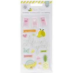 Citrus Bliss Puffy Stickers - 1
