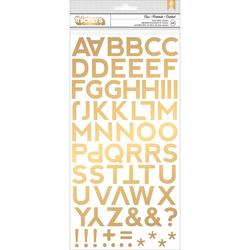 Citrus Bliss Thickers Alpha Stickers - gold - 1