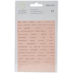 Clara Gold Girl Words & Phrases Foil Phrase Stickers - 1