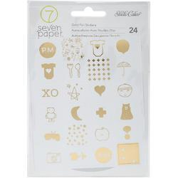 Clara Gold Icons Foil Stickers - 1