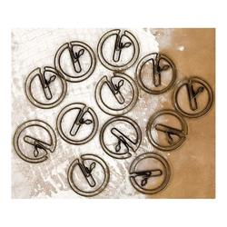 Clocks Lifetime Shaped Metal Paper Clips