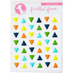 Colorful Triangles Enamel Stickers