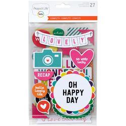 Confetti Project Life Chipboard Stickers - 1