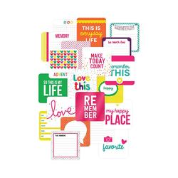 "Confetti Project Life Die-Cut Card Pack 4""x4"" 12 pkg"