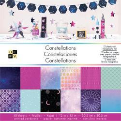 "Constellations Single-Sided Paper Stack 12""x12"" w/Holographic Foil"