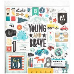 "Cool Kid Adhesive Chipboard 12""X12"""