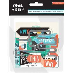 Cool Kid Ephemera Cardstock Die-Cuts 40/Pkg